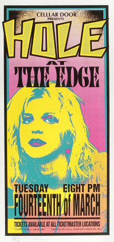 "Hole Poster from Edge Miami on 14 Mar 95: 10 1/2"" x 22 1/4"""