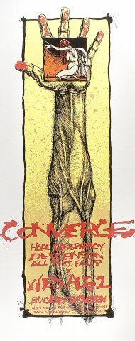 "Converge Poster from Euclid Tavern on 02 Aug 00: 13 1/4"" x 33 1/8"""