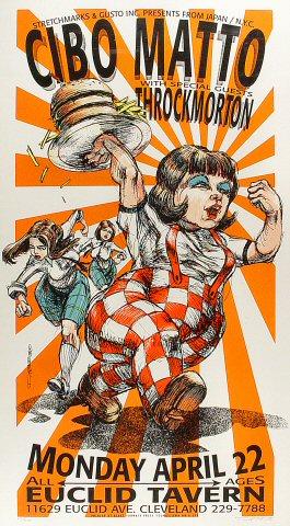 """Cibo Matto Poster from Euclid Tavern on 22 Apr 96: 15 3/8"""" x 27 7/8"""""""