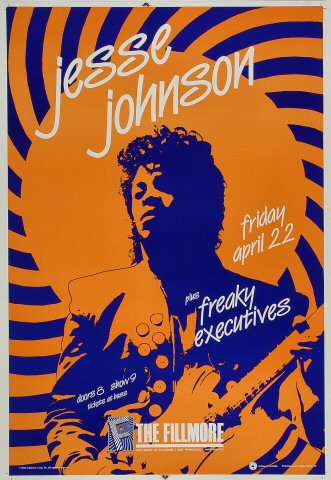 "Jesse Johnson Proof from Fillmore Auditorium on 22 Apr 88: 14"" x 20"""