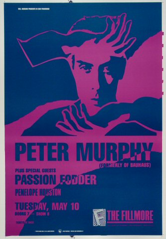 "Peter Murphy Proof from Fillmore Auditorium on 10 May 88: 14"" x 20"""