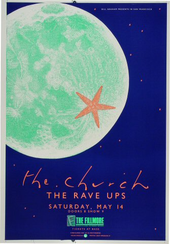 "The Church Proof from Fillmore Auditorium on 14 May 88: 14"" x 20"""