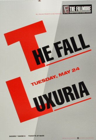 "The Fall Proof from Fillmore Auditorium on 24 May 88: 14"" x 20"""