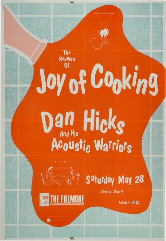"Joy of Cooking Proof from Fillmore Auditorium on 28 May 88: 14"" x 20"""