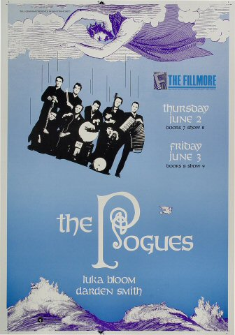 "The Pogues Proof from Fillmore Auditorium on 02 Jun 88: 14"" x 20"""