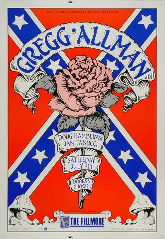 "Gregg Allman Proof from Fillmore Auditorium on 09 Jul 88: 14"" x 20"""