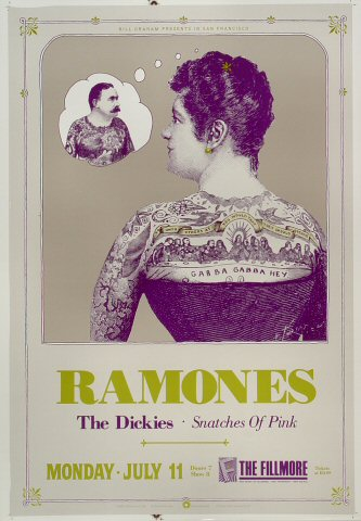 "The Ramones Proof from Fillmore Auditorium on 11 Jul 88: 14"" x 20"""