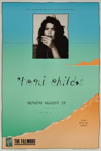 "Toni Childs Poster from Fillmore Auditorium on 29 Aug 88: 13"" x 19 1/4"""