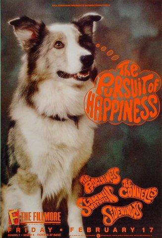 "Pursuit of Happiness Poster from Fillmore Auditorium on 17 Feb 89: 13"" x 19"""