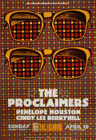 "The Proclaimers Poster from Fillmore Auditorium on 30 Apr 89: 13 1/4"" x 19 1/4"""