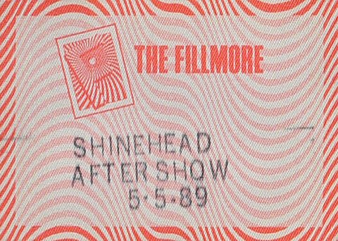 Shinehead Backstage Pass from Fillmore Auditorium on 05 May 89: Pass 1