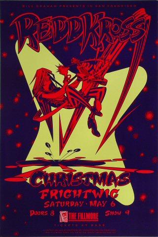 "Redd Kross Poster from Fillmore Auditorium on 06 May 89: 13"" x 19 1/2"""