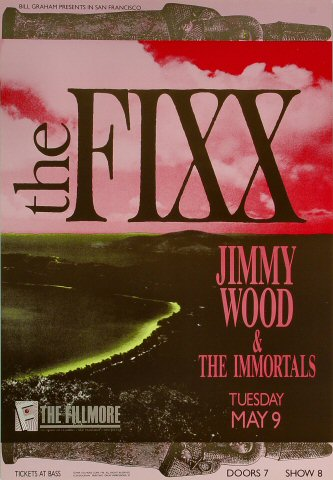 "The Fixx Poster from Fillmore Auditorium on 09 May 89: 13 1/4"" x 19 1/4"""