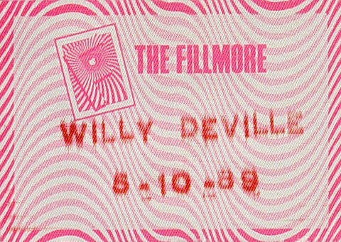 Willy DeVille Backstage Pass from Fillmore Auditorium on 10 May 89: Pass 1