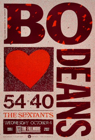 """The BoDeans Poster from Fillmore Auditorium on 04 Oct 89: 13"""" x 19"""""""