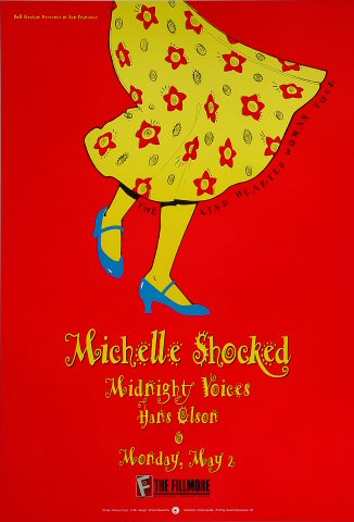 "Michelle Shocked Poster from Fillmore Auditorium on 02 May 94: 13"" x 19"""