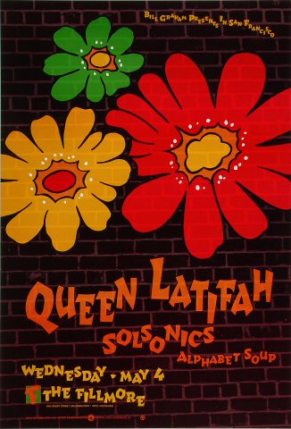"Queen Latifah Poster from Fillmore Auditorium on 04 May 94: 13"" x 19"""