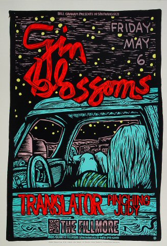 "Gin Blossoms Poster from Fillmore Auditorium on 06 May 94: 13"" x 19"""