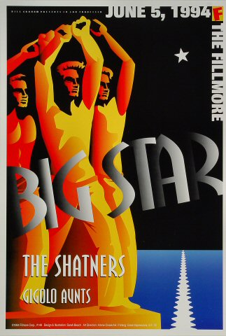 "Big Star Poster from Fillmore Auditorium on 05 Jun 94: 13"" x 19"""