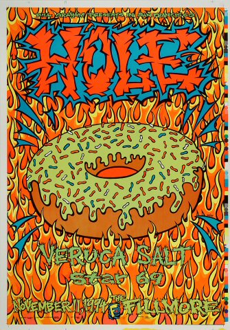 "Hole Proof from Fillmore Auditorium on 11 Nov 94: 14"" x 20"""