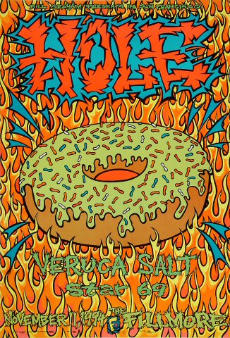 """Hole Poster from Fillmore Auditorium on 11 Nov 94: 13"""" x 19"""""""