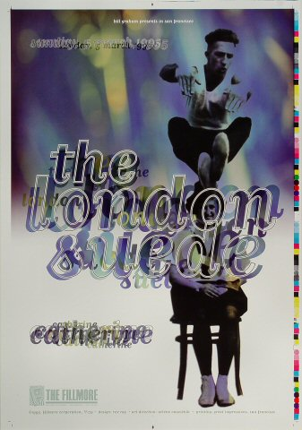 """London Suede Proof from Fillmore Auditorium on 05 Mar 95: 14"""" x 20"""""""
