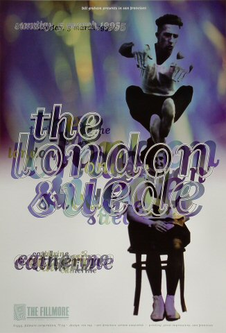 """London Suede Poster from Fillmore Auditorium on 05 Mar 95: 13"""" x 19"""""""
