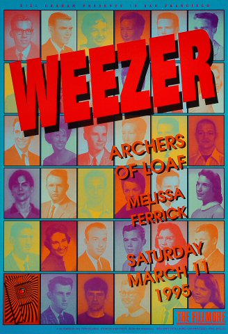 "Weezer Poster from Fillmore Auditorium on 11 Mar 95: 13"" x 19"""