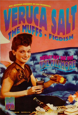 "Veruca Salt Poster from Fillmore Auditorium on 02 May 95: 13"" x 19"""