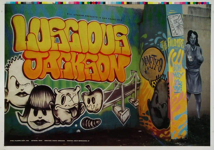 """Luscious Jackson Proof from Fillmore Auditorium on 21 May 95: 14"""" x 20"""""""