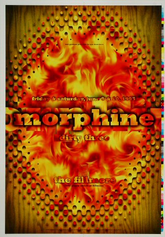 """Morphine Proof from Fillmore Auditorium on 09 Jun 95: 14"""" x 20"""""""