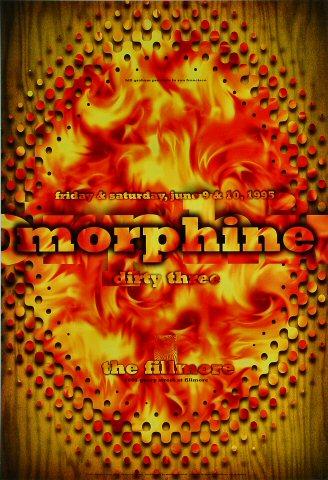 "Morphine Poster from Fillmore Auditorium on 09 Jun 95: 13"" x 19"""