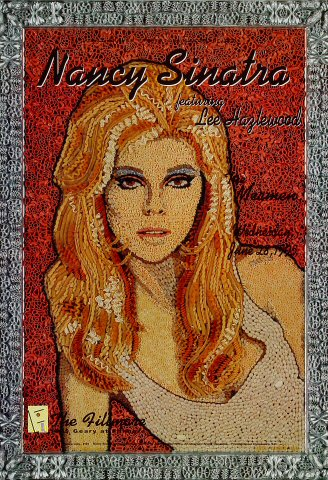 "Nancy Sinatra Poster from Fillmore Auditorium on 28 Jun 95: 13"" x 19"""