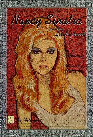 "Nancy Sinatra Poster from Fillmore Auditorium on 28 Jun 95: 13"" x 19"""