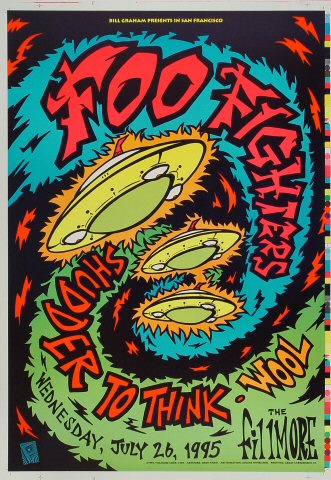 "Foo Fighters Proof from Fillmore Auditorium on 26 Jul 95: 14"" x 20"""