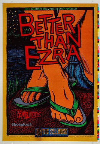"Better Than Ezra Proof from Fillmore Auditorium on 10 Aug 95: 14"" x 20"""