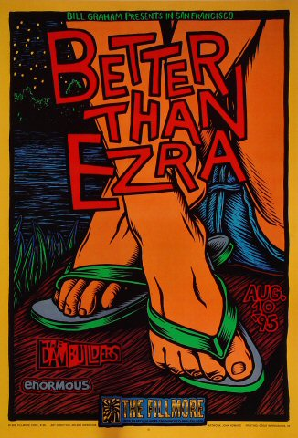 "Better Than Ezra Poster from Fillmore Auditorium on 10 Aug 95: 13"" x 19"""