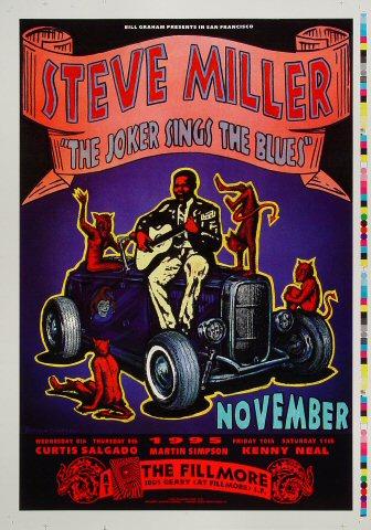 """Steve Miller Proof from Fillmore Auditorium on 08 Nov 95: 14"""" x 20"""""""