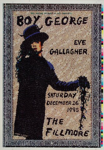 "Boy George Proof from Fillmore Auditorium on 16 Dec 95: 14"" x 20"""