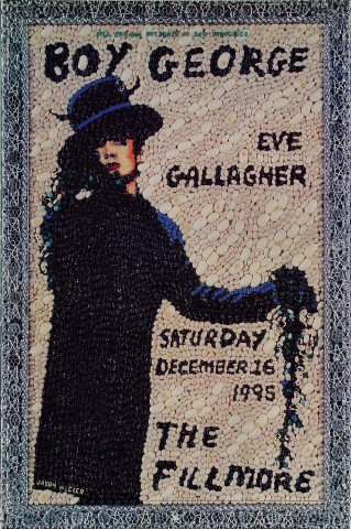 "Boy George Poster from Fillmore Auditorium on 16 Dec 95: 13"" x 19"""