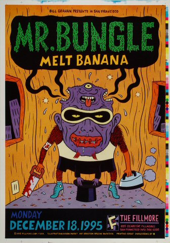 "Mr. Bungle Proof from Fillmore Auditorium on 18 Dec 95: 14"" x 20"""