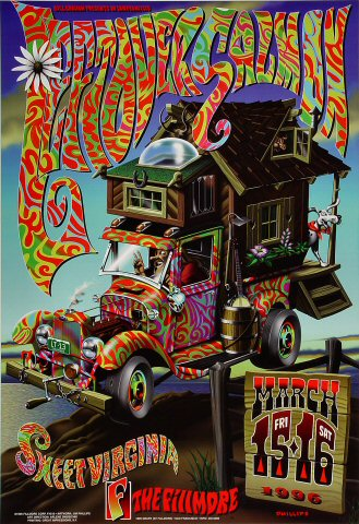 "Leftover Salmon Poster from Fillmore Auditorium on 15 Mar 96: 13"" x 19"""