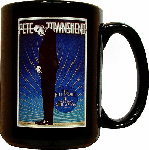 Pete Townshend Retro Mug from Fillmore Auditorium on 30 Apr 96: Mug