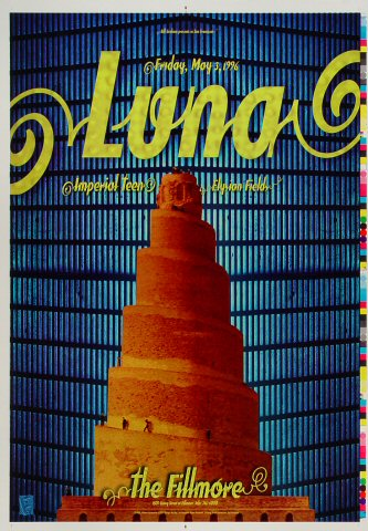 "Luna Proof from Fillmore Auditorium on 03 May 96: 14"" x 20"""