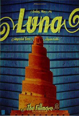 "Luna Poster from Fillmore Auditorium on 03 May 96: 13"" x 19"""
