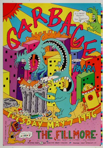 "Garbage Proof from Fillmore Auditorium on 07 May 96: 14"" x 20"""