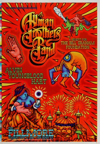 "The Allman Brothers Band Proof from Fillmore Auditorium on 03 Sep 96: 14"" x 20"""