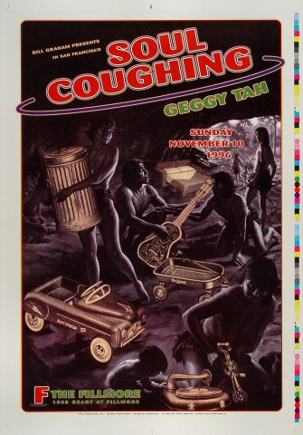 "Soul Coughing Proof from Fillmore Auditorium on 10 Nov 96: 14"" x 20"""