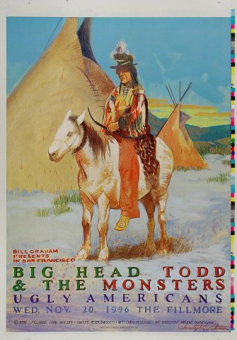 "Big Head Todd & The Monsters Proof from Fillmore Auditorium on 20 Nov 96: 14"" x 20"""