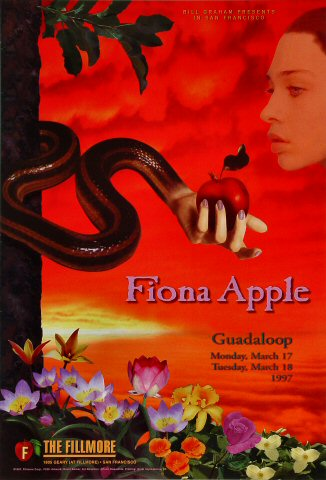 "Fiona Apple Poster from Fillmore Auditorium on 17 Mar 97: 13"" x 19"""